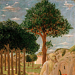 Piero della Francesca - Landscape with the penitent St. Jerome, Part 4