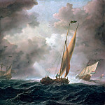 Willem van de Velde II - Dutch ketch before stormy wind, Part 4