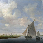Salomon van Ruysdael - Sailboat on the Wijkermeer, Part 4