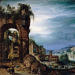 Paul Bril - Roman ruin landscape, Part 4
