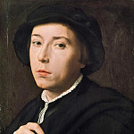 Willem Adriaensz Key - Portrait of a young man with a black beret, Part 4