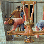 Tommaso Masaccio - Predella panel from the Pisa Altar - Crucifixion of St Peter, Part 4