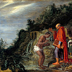 Pieter Lastman - The baptism of the eunuch, Part 4