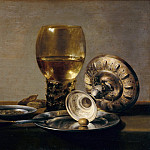 Pieter Claesz - Still Life with glass and silver cup, Part 4