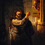 Rembrandt - Simson threatened his father-in-law, Part 4