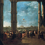 The Balloon Take off of Count Zambeccari, Francesco Guardi