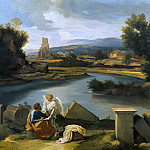 Nicolas Poussin - Landscape with St Matthew and the Angel, Part 4
