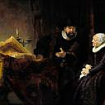 Rembrandt - The Mennonite Preacher Anslo and his Wife, Part 4