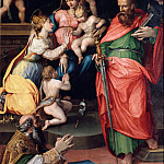 Prospero Fontana – Enthroned Madonna with Child and Saints, Part 4