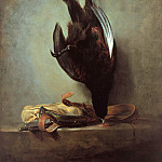 Jean-Baptiste Simeon Chardin - Still Life with Pheasant and Hunting Bag, Part 4