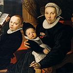 Part 4 - Pieter Pietersz (1540-1603) - Portrait of the Amsterdam publisher Laurens Jacobszoon with his wife and three sons