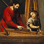 Juan de Juanes - Joseph and the Christ Child in the carpenter shop, Part 4