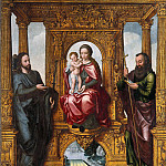 Pieter Claeissins I - The enthroned Virgin and Child and Saint James the Younger and James the Elder, Part 4