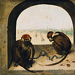 Part 4 - Pieter Bruegel I (c.1525-1569) - Two Chained Monkeys