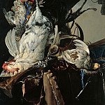 Willem van Aelst - Still Life with Birds and Hunting Equipment, Part 4