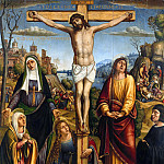 Pier Francesco Sacchi - Christ on the Cross, mourned by the three Marys, st. John and a donor, Part 4