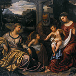Polidoro da Lanciano - The Holy Family with St. Catherine of Alexandria and John the Baptist, Part 4