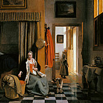 The mother, Pieter de Hooch