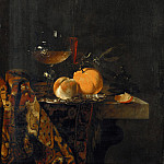 Willem Kalf - Still life with glass cup and fruits, Part 4