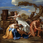Nicolas Poussin – Jupiter nourished as a child The Goat Amalthea, Part 4