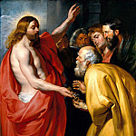 Christ Giving to St. Peter the keys of heaven, Peter Paul Rubens