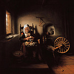 Nicolaes Maes - The old woman peeling apples, Part 4