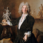 Nicolas de Largilliere - The sculptor Nicolas Coustou in his studio, Part 4
