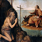 Nicolas Borras - The st. Onuphrius the Great and St John the Evangelist in a Landscape, Part 4