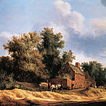 Salomon van Ruysdael - Landscape with farmstead, Part 4