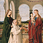 Part 4 - Petrus Christus (c.1410-c.1475) - Mary with the Child, St. Barbara and a Carthusian