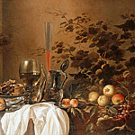 Pieter Claesz and Roelof Koets - Still life with drinking vessels and fruits, Part 4