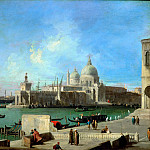 Canaletto -- View of Santa Maria della Salute from the Entry of the Grand Canal, Part 4 Louvre