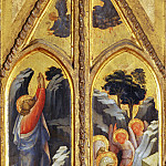 Lorenzo Monaco -- Christ in the Garden of Gethsemane; Holy Women at the Tomb; Angels, Part 4 Louvre