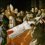 Francisco de Zurbarán -- Viewing of the Body of Saint Bonaventure, Part 4 Louvre