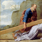 Eustache Le Sueur -- Jesus carrying His Cross, Part 4 Louvre