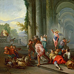 Giovanni Paolo Panini -- The Merchants Driven from the Temple., Part 4 Louvre