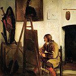 Carel Fabritius -- Young Painter in his Studio, Part 4 Louvre