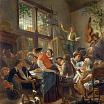 Jan Steen -- A Happy Family Dinner, Part 4 Louvre