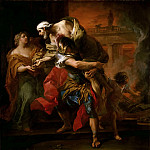 Carle van Loo -- Aeneas carrying Anchises, Part 4 Louvre