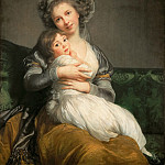 Part 4 Louvre - Elisabeth Louise Vigée-LeBrun -- Madame Vigée-LeBrun and her daughter, Jeanne-Lucie, called Julie