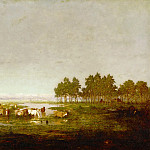 Théodore Rousseau -- Swamp in the Landes, Part 4 Louvre
