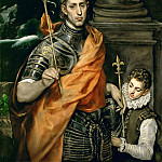 El Greco -- Saint Louis, King of France, and a Pageboy, Part 4 Louvre