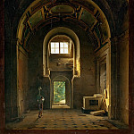 Part 4 Louvre - Louis-Jacques-Mandé Daguerre -- Interior of a Chapel in the Church of the Feuillants in Paris