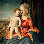 Giovanni Battista Cima da Conegliano -- Virgin and Child, Part 4 Louvre