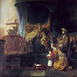 Gerbrand van den Eeckhout -- Hannah and her husband presenting their son Samuel to the High Priest Eli, Part 4 Louvre