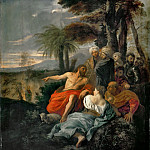 Pier Francesco Mola -- Saint John the Baptist preaching in the desert, Part 4 Louvre