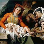Part 4 Louvre - François-Joseph Navez -- Italian family, or Rest of the peasants in the countryside around Rome