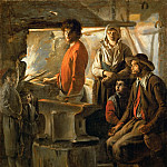 The Forge (A Blacksmith in His Forge), Louis & Mathieu Le Nain