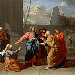 Jean-Germain Drouais -- Christ and the Canaanite woman, Part 4 Louvre