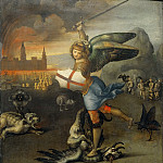 Raphael -- Saint Michael and the Devil, Part 4 Louvre